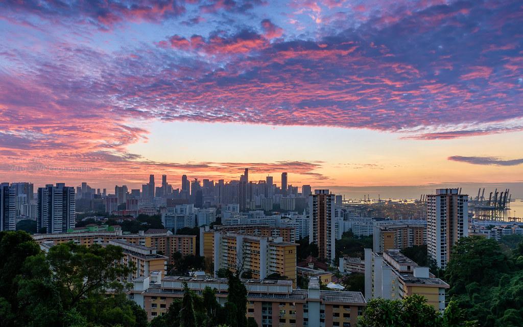 mount faber sunrise singapore  an amazing sunrise with