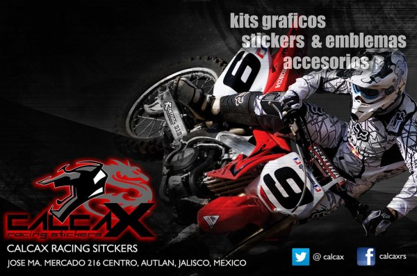 CALCAXRS DESING AMNSOFTH CALCAX RACING STICKERS