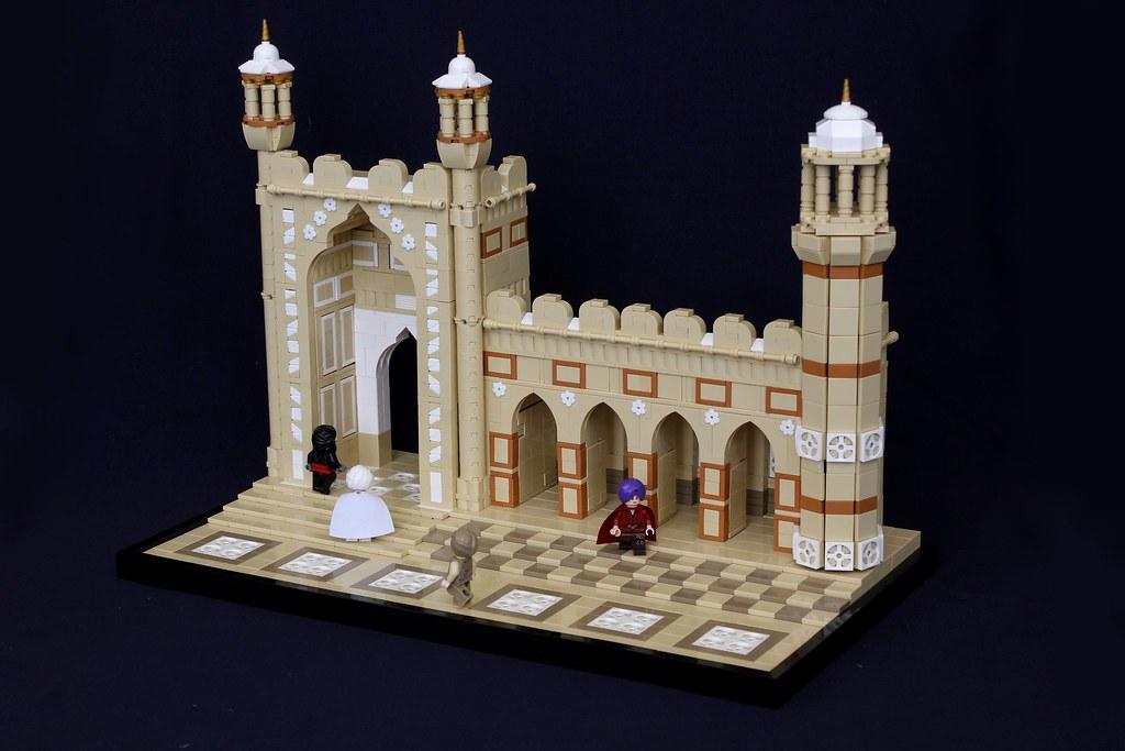Badshahi Mosque built with LEGO bricks  The Brothers Brick  The Brothers Brick