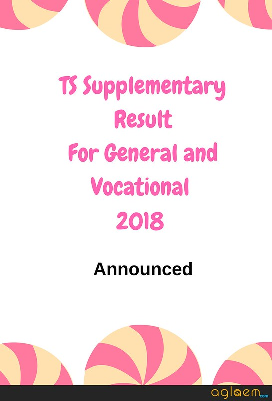 TS Intermediate 2nd year General / Vocational Supply Results 2018