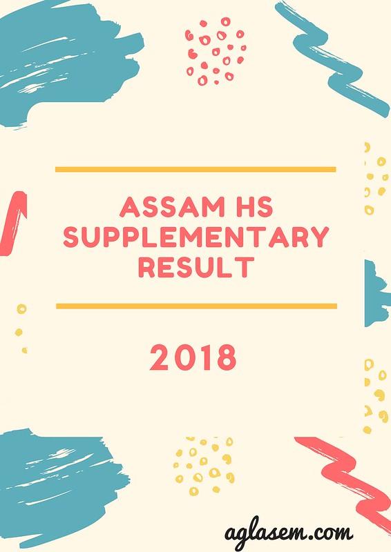 Assam HS Supplementary Result 2018