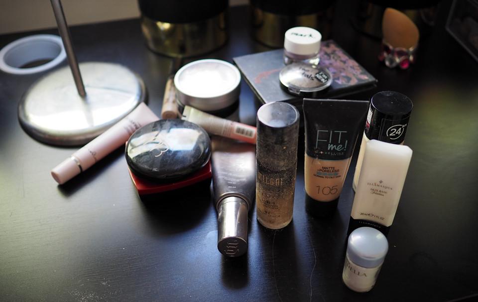 declutter makeup kevätsiivous