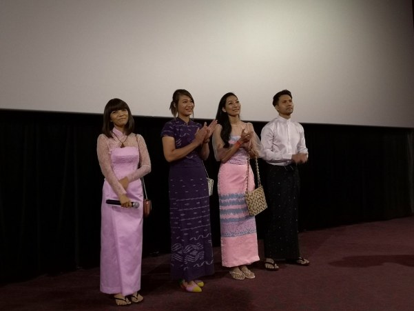 From left: Christina Kyi, Nann Wai Wai Htun, Hla Yin Kyae and Zenn Kyi at the Blog Aloud session.