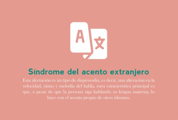 julio: Síndrome del acento extranjero