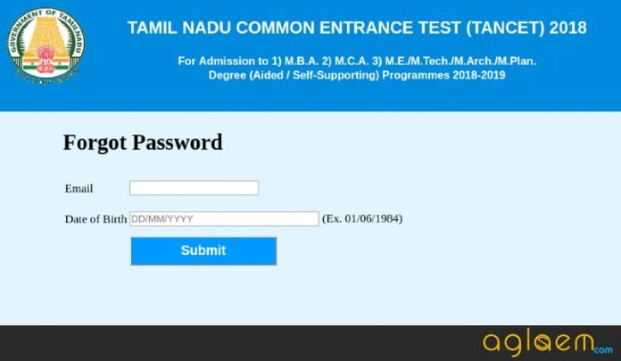 TANCET MBA 2018 password