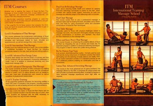 Brochure ITM International Training Massage School Chiang Mai Thailand 1