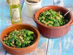 Salada de favas e ervilhas