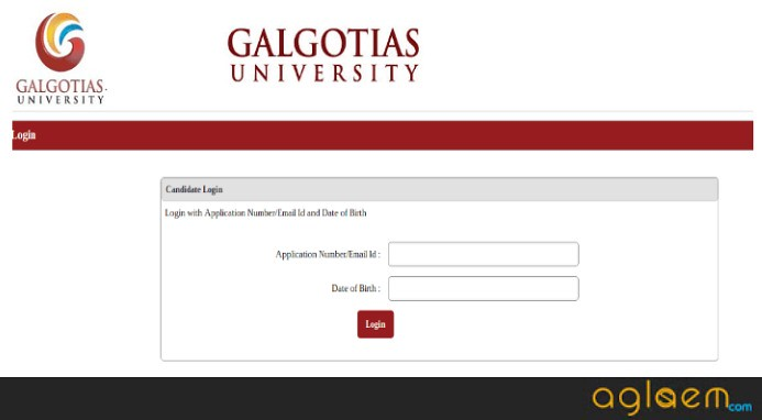 Galgotias Engineering Entrance Test 2019