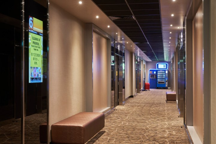 Pick up a hot meal from the Saybons Hugo vending machine before heading to your cinema hall. Photo: Golden Village