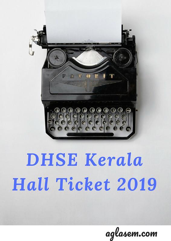 Kerala Plus 2 Hall Ticket 2019