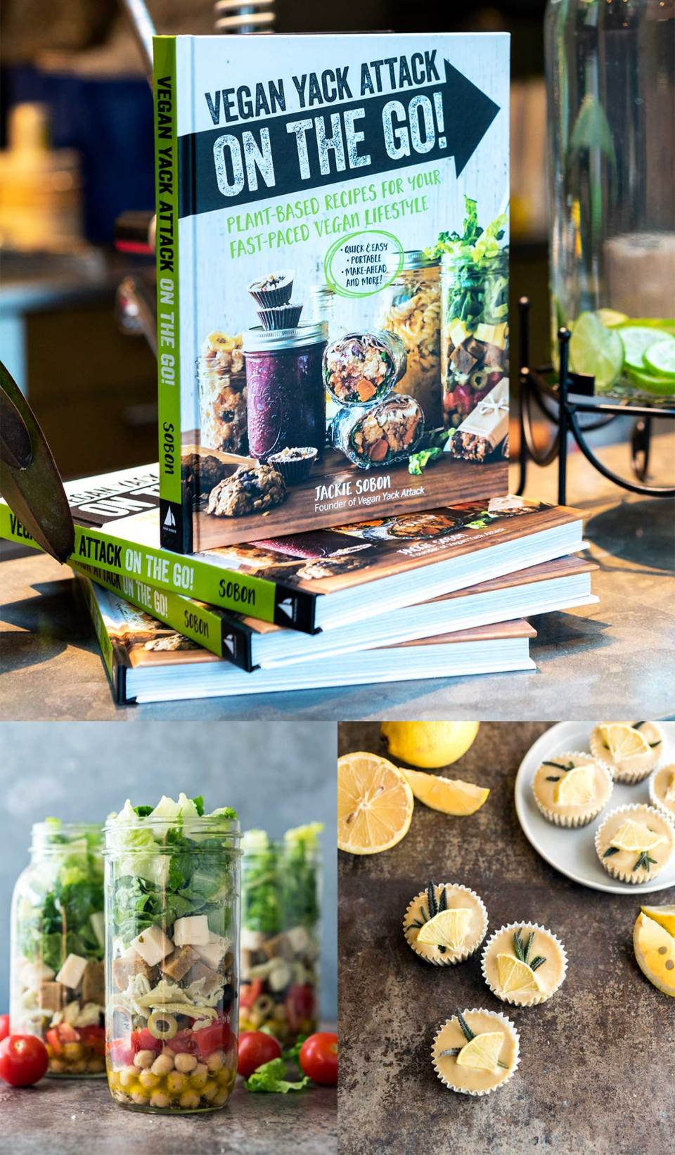 It's here! It's here! The release date of my second cookbook, Vegan Yack Attack On the Go! Quick recipes, make-ahead recipes, lunch, and recipes for on the move; this book has it all.