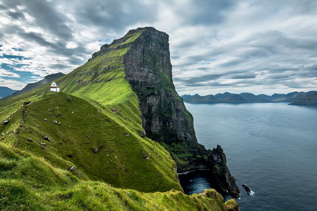 Island 3d Wallpaper Kallur Lighthouse Faroe Islands Kallur Lighthouse Is