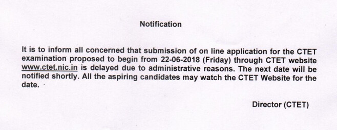 CTET 2018 Application Form Delay; All That You Need to Know for Applying