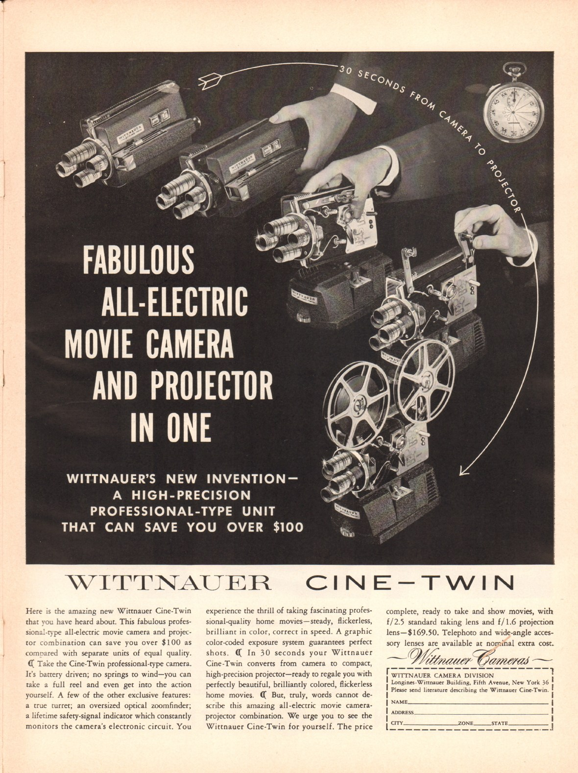 Wittnauer Cameras - published in Life - November 10, 1958