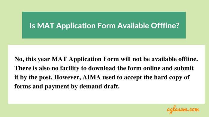 MAT September 2018 Application Form