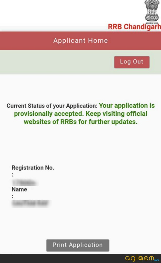 RRB Group D Application Form Status 2018