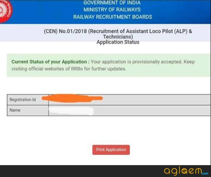 RRB ALP Application Status 2018 (Available)