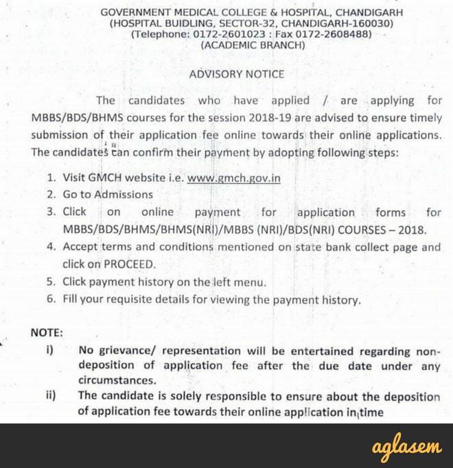 Chandigarh NEET 2018 Merit List, Counselling