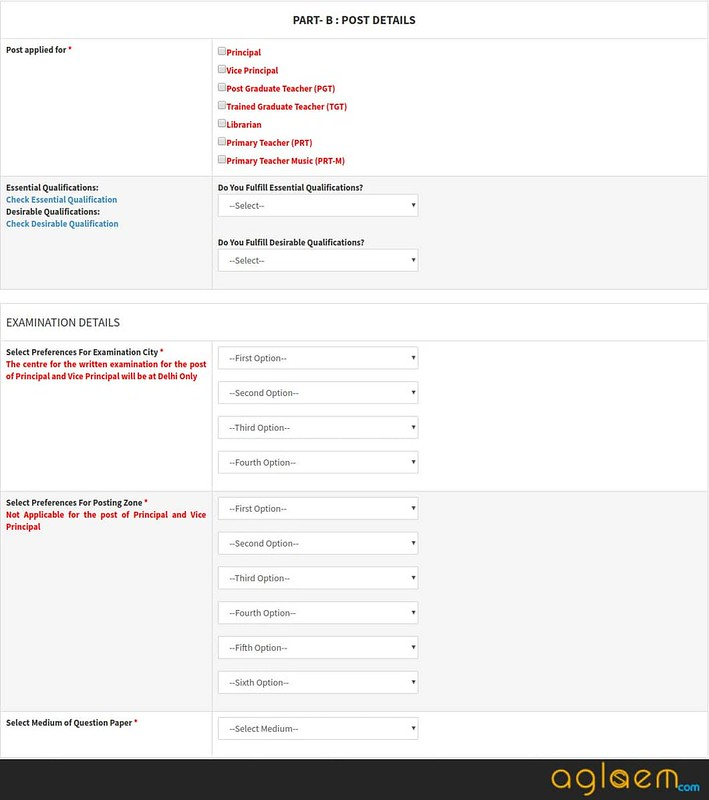 part b of application form
