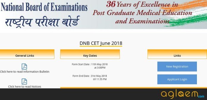 DNB CET 2019 Application Form (nbe.edu.in)   Register Here For NBE DNB CET 2019