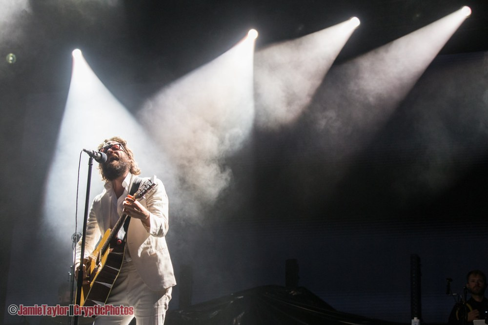 Musician Josh Tillman aka Father John Misty performing at Skookum Music Festival in Vancouver, BC on September 9th, 2018