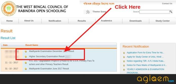 Rabindra Open Schooling Result 2018