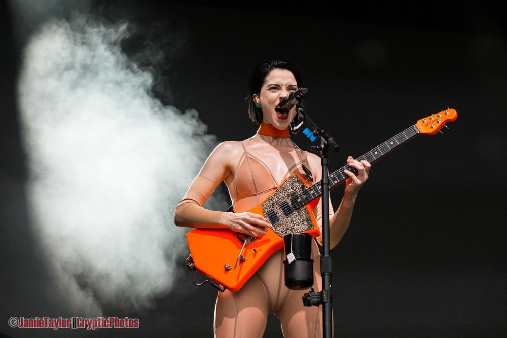 Musician Annie Clark of St. Vincent performing at Skookum Music Festival in Vancouver, BC on September 8th, 2018