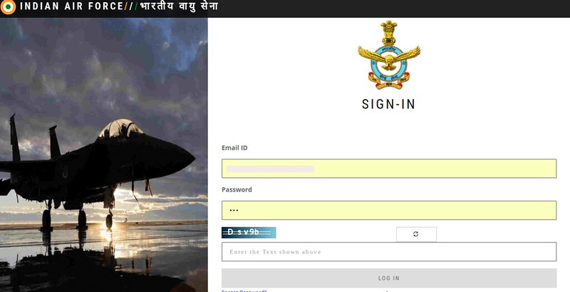 Candidate login window for checking the result.