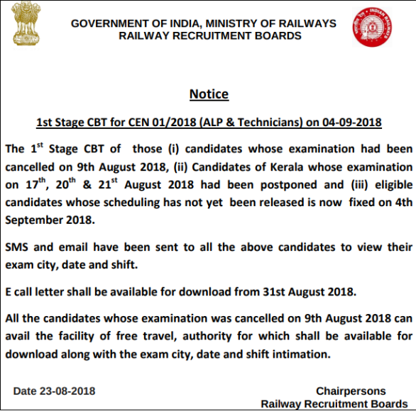 RRB ALP Result 2018 - Check Here