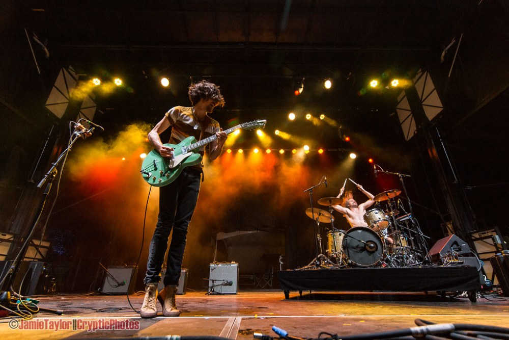 Austin band Black Pistol Fire performing at Skookum Music Festival in Vancouver, BC on September 7th, 2018