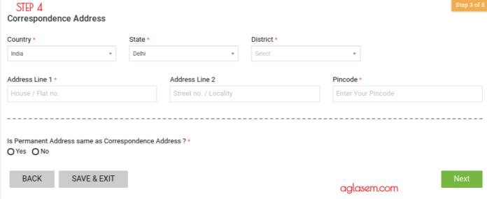 IRMA 2019 Address Details