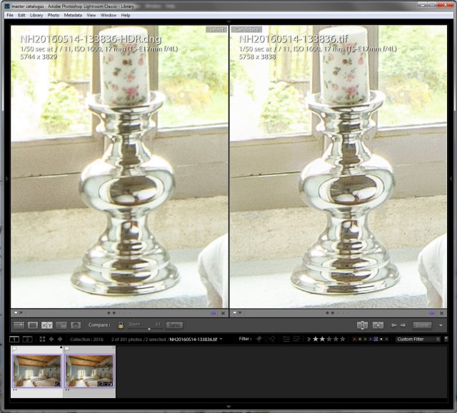 HDR verschil Lightroom en Photoshop