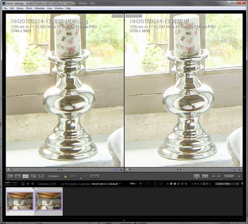 HDR verschil Lightroom en Photoshop