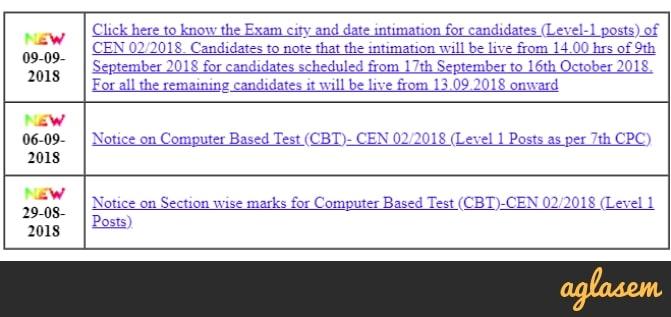 RRB Kolkata Group D Exam Date 2018