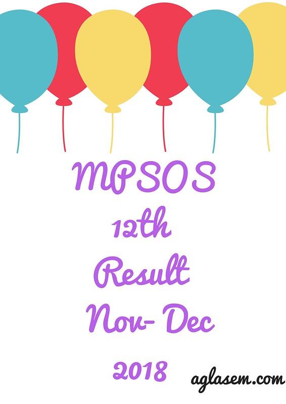 MPSOS 12th Result November- December 2018