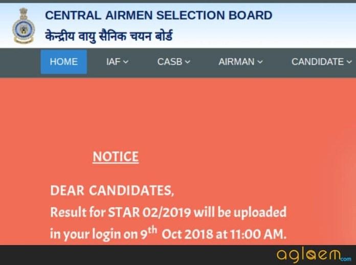 Snapshot of Airmen Selection website