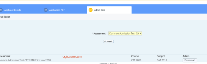 CAT 2018 Admit Card Window