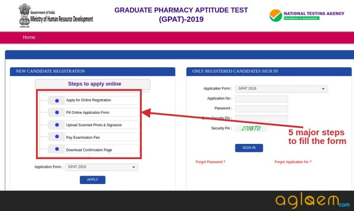 GPAT Application Form 2019