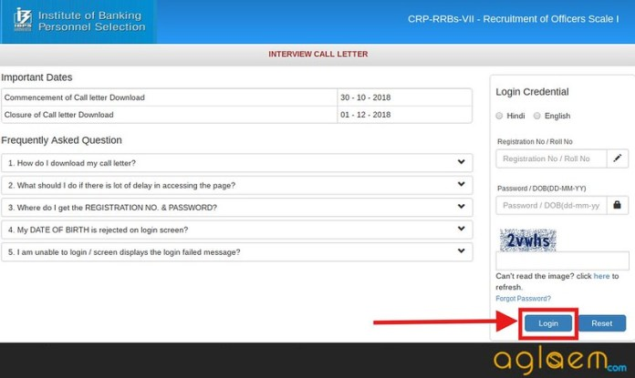 IBPS RRB Admit Card for Inetrview