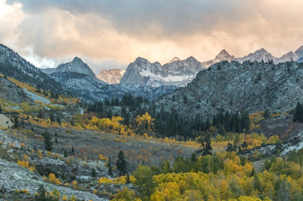 November sunset in the Eastern Sierra Nevada mountain