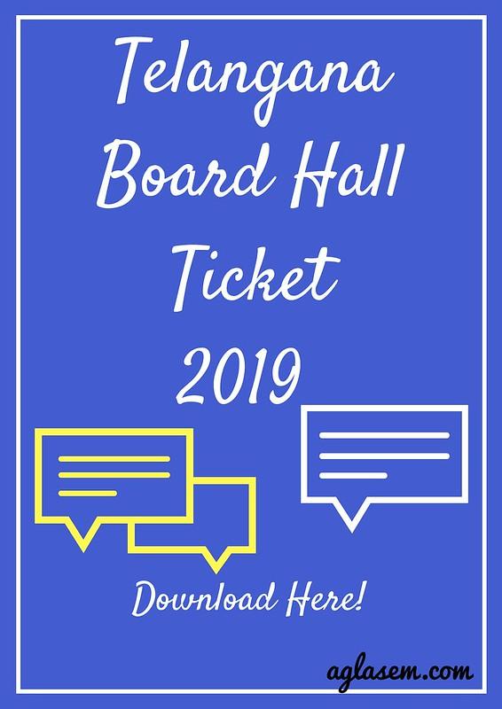 Telangana Hall Ticket 2019