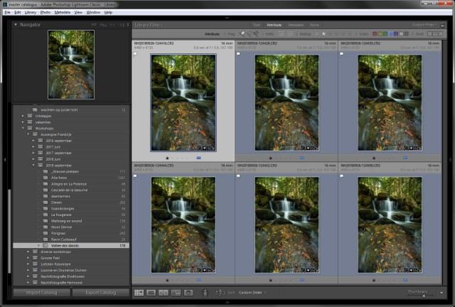 Stap 1 = zorg dat de serie foto's allemaal exact hetzelfde bewerkt zijn. Elke foto in deze serie heeft het scherpstelpunt op een andere plek liggen.