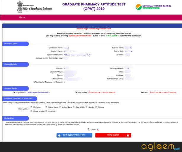 GPAT Registration 2020