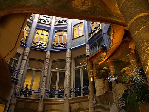 Interior descala de la Casa Mil La Pedrera Barcelona  Flickr