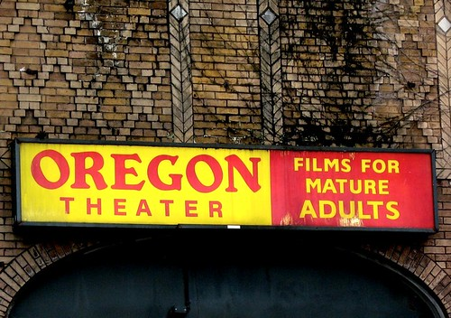 Oregon Theater sign on SE Division in Portland Oregon