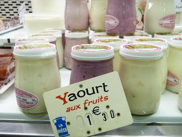 Yaourt frais - Marché des Batignolles