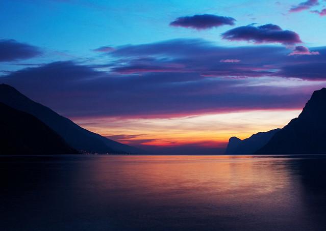 Lago di Garda  Il lago di Garda visto da Torbole al