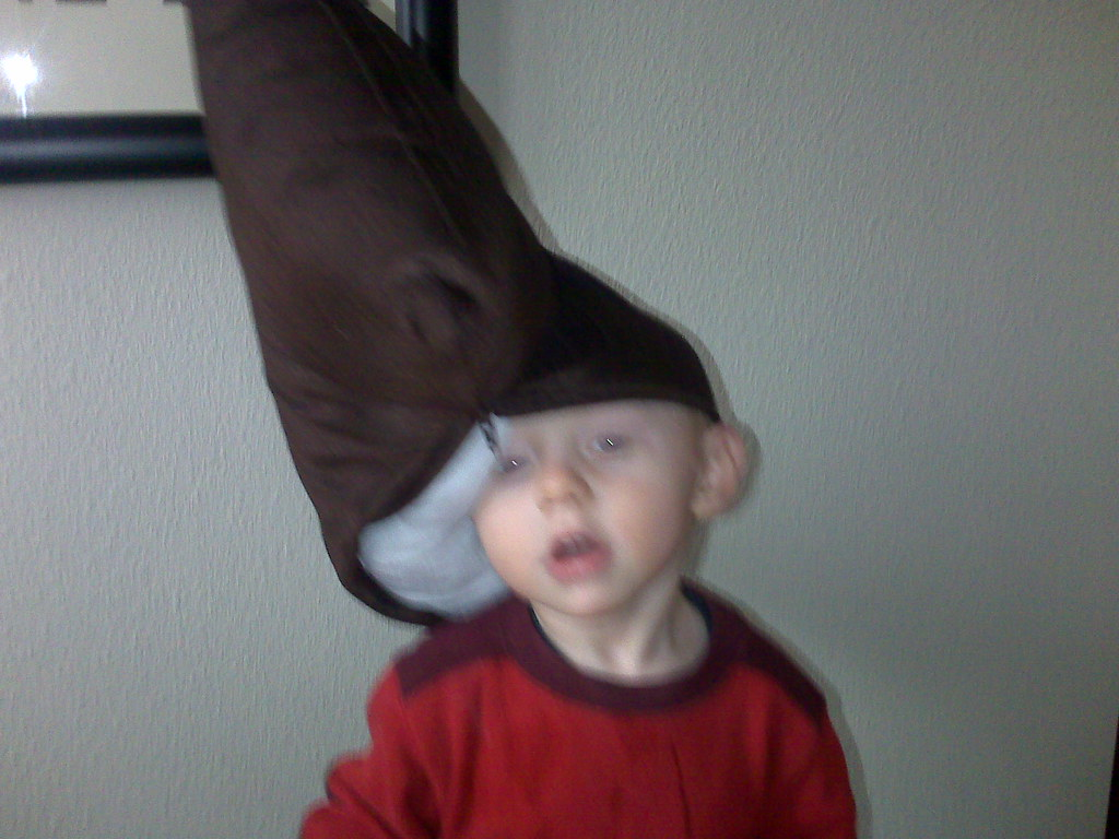 Watch out for conehead baby  Adrian came into the