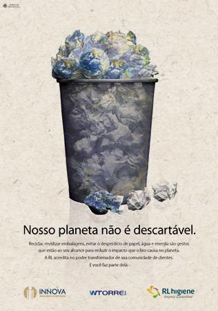 Cartaz sobre Reciclagem  Com a proposta de