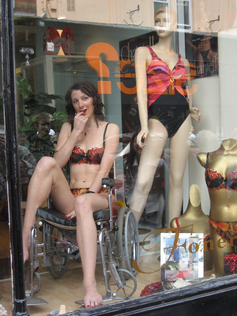 Live Mannequin Foners Lingerie Shop Bold Street
